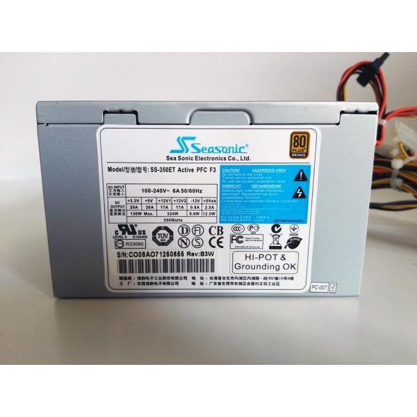 Sursa Seasonic 350W real 4 x Conectori SATA 4 x Conectori IDE 20+4 Pin ATX x 1, 4 Pin ATX 12V x 1